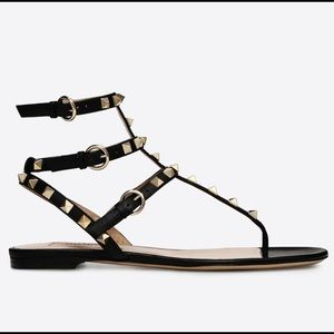 Authentic!!!Valentino rockstud caged sandal